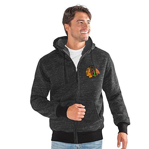 G-III Sports NHL Chicago Blackhawks Men's Discovery Transitional Jacket, X-Large, Black