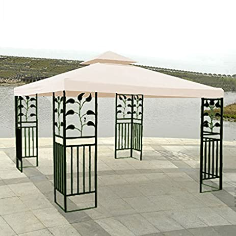 10u0027 X 10u0027 Replacement Gazebo Canopy Beige Top Cover Patio Outdoor Shade ...