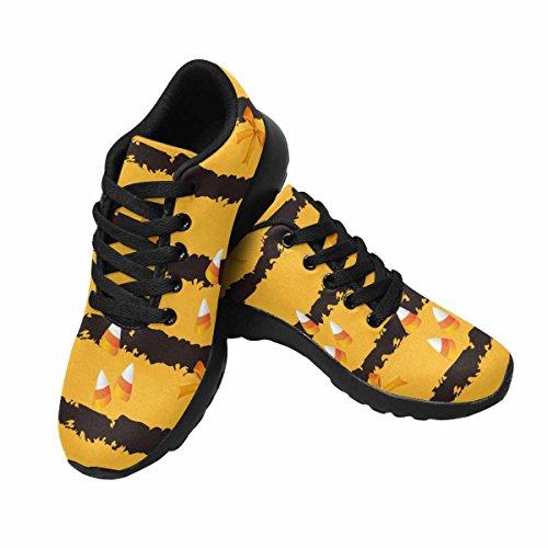 Scarpe Da Corsa Da Donna Running Jogging Leggera Leggera Andare Easy Walking Scarpe Da Ginnastica Da Donna Comfort Comfort Con Halloween Candy E Nastro Su Sfondo Arancione Multi 1