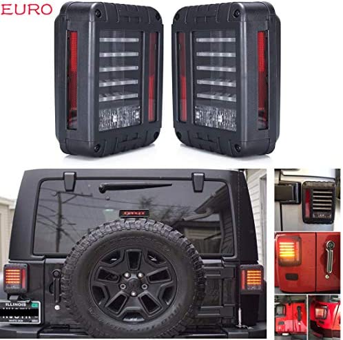 Sxma Euro Version Led Rückleuchten Rücklicht Hinten Blinker Led Bremsleuchten Rückleuchten Für Jee P 07 17 Wrangler Jk 1 Para Auto