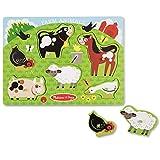 Melissa & Doug Farm Animals Wooden Peg Puzzle