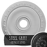 Ekena Millwork CM20JASGS Jackson Ceiling Medallion, Steel Gray