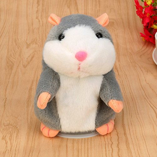 Adorable Interesting Speak Talking Record Hamster Mouse Plush Kids Toys Development Intelligence Learning Skills Educational For Kids Puzzle Pretend Toy Growing Experiment Gift Toy (Random-B)