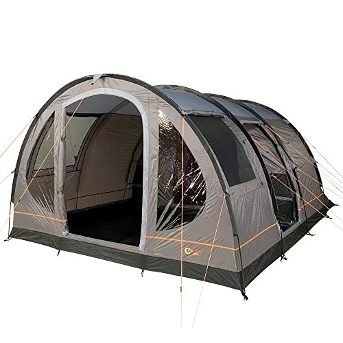 Portal Outdoor Gamma 5 Spacious Large Tunnel Tent with Storage Bag in Charcoal/Orange