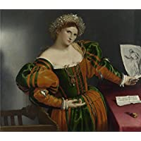 fan products of The Polyster Canvas Of Oil Painting 'Lorenzo Lotto Portrait Of A Woman Inspired By Lucretia ' ,size: 12 X 14 Inch / 30 X 35 Cm ,this Vivid Art Decorative Prints On Canvas Is Fit For Kitchen Artwork And Home Gallery Art And Gifts
