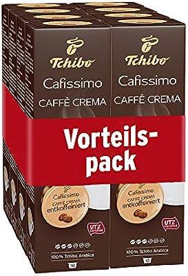 3a252747d5da24 Tchibo Cafissimo Caffè Crema entkoffeiniert Kapseln, 80 Stück (8 x ...