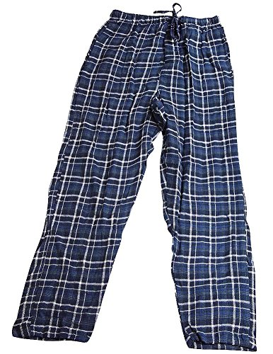 State O Maine - Mens Plaid Flannel Pajama Pants, Blue 36724-Small-FBA