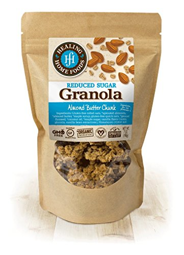- Reduced Sugar Almond Butter Chunk Granola