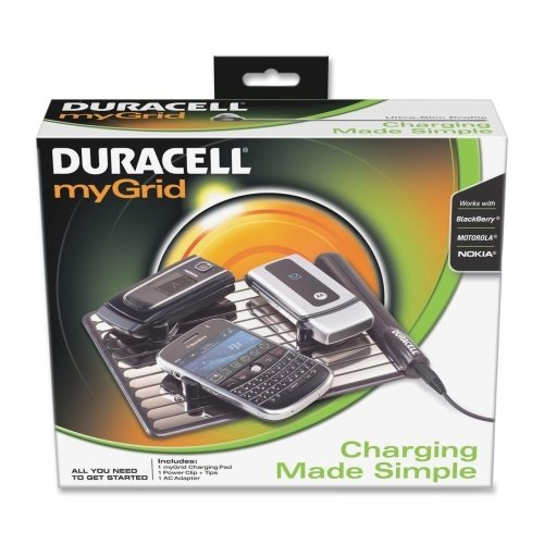 Duracell myGrid Charger Pad Cell Phone Starter Kit (DURPPS5US0001) Category: Cellular Cables, Batteries and Power Supplies (Duracell Mobile Battery Charger)