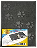 ANDALUS Cat Litter Trap Mat | Small Large X-Large Size | Phthalate & BPA Free | Easy to Clean (Large - Gray)