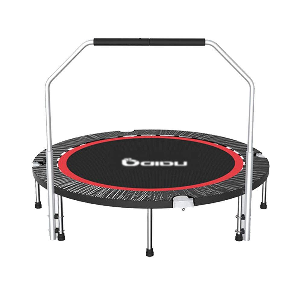 Trampolin 50inch Mini Übung Fitnessgeräte für Erwachsene, Indoor mit Griff Folding Trampolin Trainer