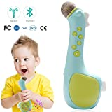 Kids Microphone Karaoke, Portable Bluetooth Speaker for Music Playing Singing Anytime (Blue)