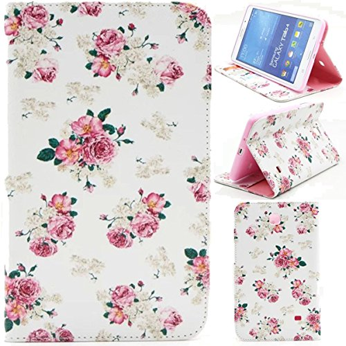 New Design Pu Leather - Samsung T230 Case,Unique Design PU Leather Wallet Soft TPU Case Kickstand Cover with Card Slots for Samsung Galaxy Tab 4 7.0