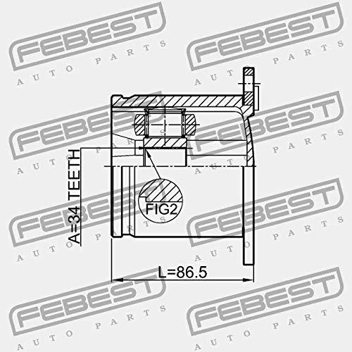 2311-CCLH Febest GIUNTO OMOCINETICO INTERNO 34X100