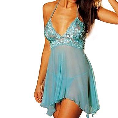❤ Ropa Interior de Mujer Sexy, 2 Piezas Conjunto Super Lencería Lace Dress Temptation Plus Size Absolute: Amazon.es: Ropa y accesorios
