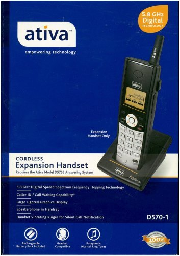 Ativa 5.8 GHz Digital Technology Cordless Expansion (Green Bay Packers Telephone)
