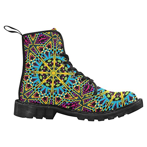 InterestPrint Womens Boots Unique Designed Comfort Lace Up Boots Multi 2 g1x2wZa