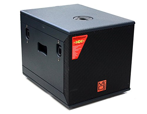 Mr. Dj PRO3500AMP 12'' 3500W Professional Series Active/Pre Amplified Subwoofer. by Mr. Dj