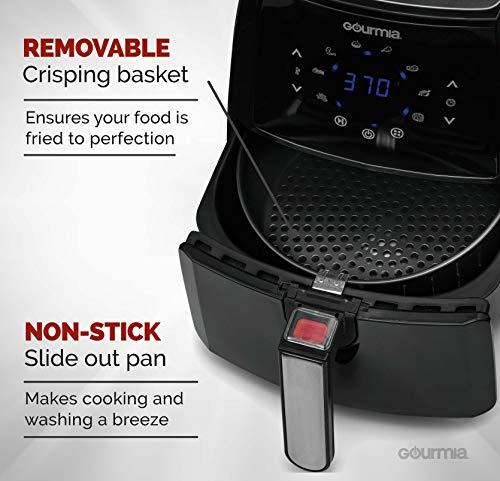 Gourmia 4.5 Qt Digital Fryer | 8 | Dishwasher-Safe | Free Included