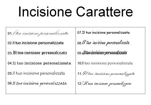 10 Cassa Incisione Titolare Pelle Personalizzato Scatola Box Acciaio Inossidabile Nero Memediy Tenere Sigaretta vngHxqOBqw