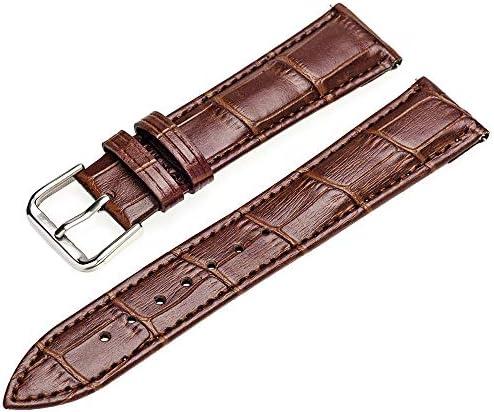 時計バンド ベルト EMPIRE ARES アレース クロコ型押し レザー ウォッチバンド 腕時計バンド 交換ベルト 革ベルト イージークリック ブラウン 20mm