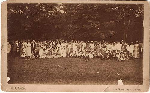 Gethsemane Baptist Sunday Picnic Photograph, Circa 1888 (Philadelphia?) Taken by W. T. Paullin