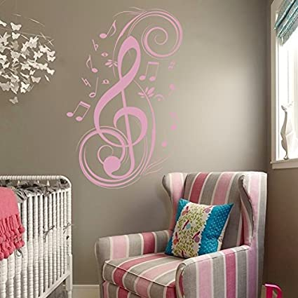 b16981a65a Image Unavailable. Image not available for. Color: Music Notes Wall Decal  Vinyl ...