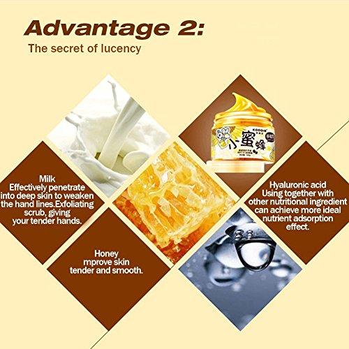 XY Fancy Hands Care ParaffinMilk & Honey Moisturizing Peel Off Hand Wax MaskExfoliate Hydrating Exfoliating Nourish Whitening Hand Mask Skin Care 150g by XY Fancy (Image #4)
