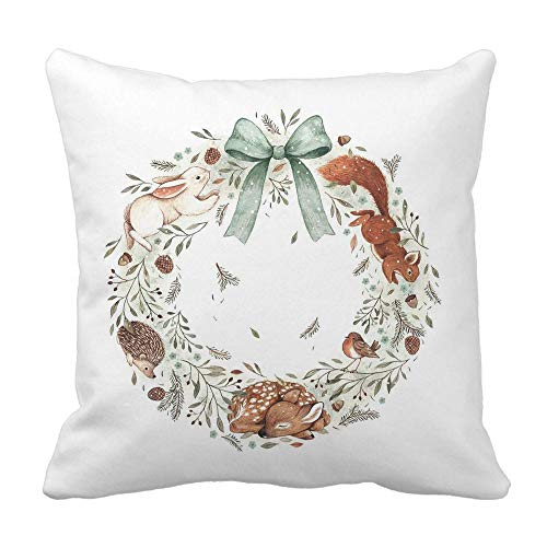 WFeieig_Halloween Woven Tufted Boho Pillow Cases, Rectangle Pillows Cover with Tassels Cream -