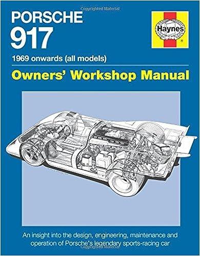 Porsche 917: Owners' Workshop Manual 1969 Onwards por Ian Wagstaff epub