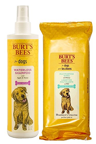 Burts Bees Dog Waterless Shampoo Spray Color:Set Shampoo and Wipes