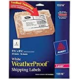 Avery WeatherProof Labels for Laser Printers, 5.5 x 8.5 Inch, White, Pack of 20  (15516)