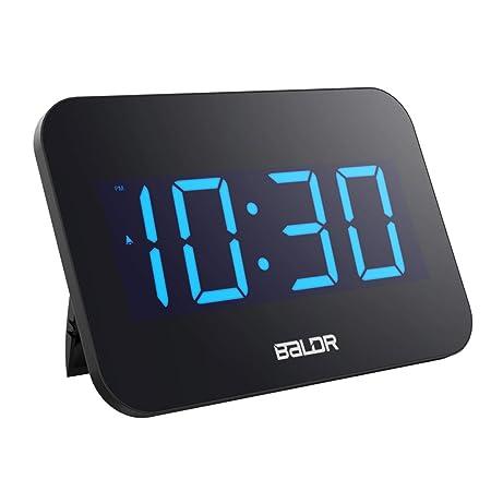 Baoblaze Reloj Digital de Alarma de Escriotorio Display LED - UE Plug: Amazon.es: Hogar