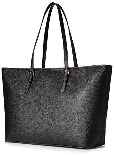 MICHAEL Michael Kors Women's Jet Set Travel Medium Multifunction Tote, Black