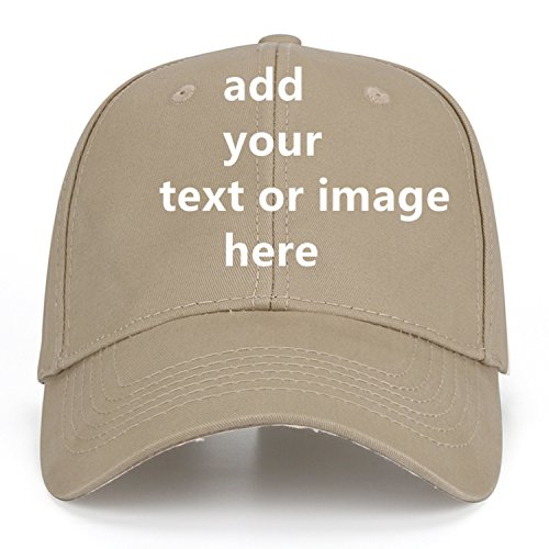 Custom Baseball Cap with Your Text,Personalized Adjustable Trucker Caps Casual Sun Peak Hat for -