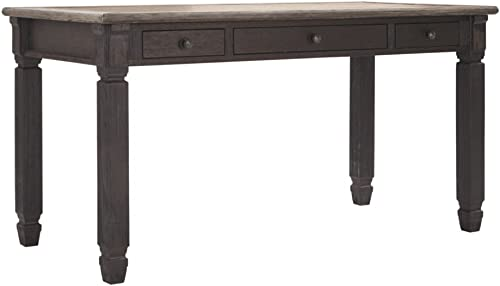 Signature Design by Ashley Tyler Creek Home Office Desk Grayish Brown Black