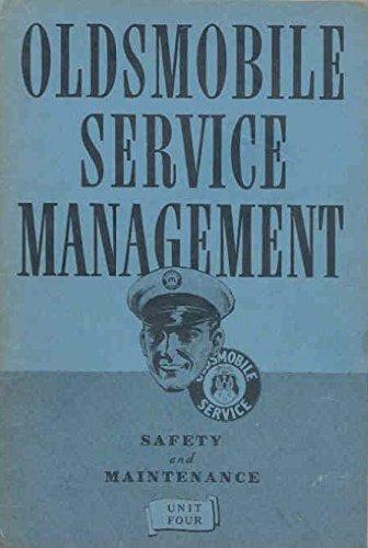 1937 Oldsmobile Service & Maintenance Brochure Unit (Maintenance Unit)