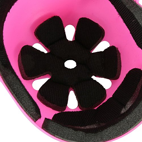 ASIBT Kid's Skateboard Helmet Sets Cycling Roller Skating Helmet Elbow Knee Pads Wrist Sport Safety Protective Guard Gear Set for Children of age 3-8 years old (Pink) by ASIBT (Image #7)