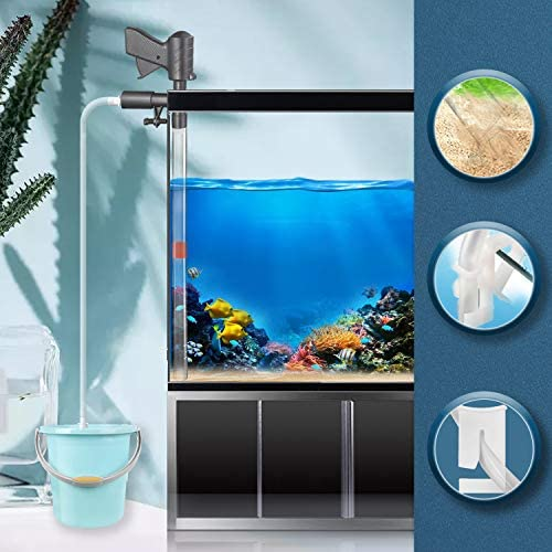 Fortune-star Aquarium Gravel Cleaner Kit New Quick Fish Tank Cleaner with Vacuum Siphon Vac for Water Changer Cleaning Pump with Air-Pressing Button