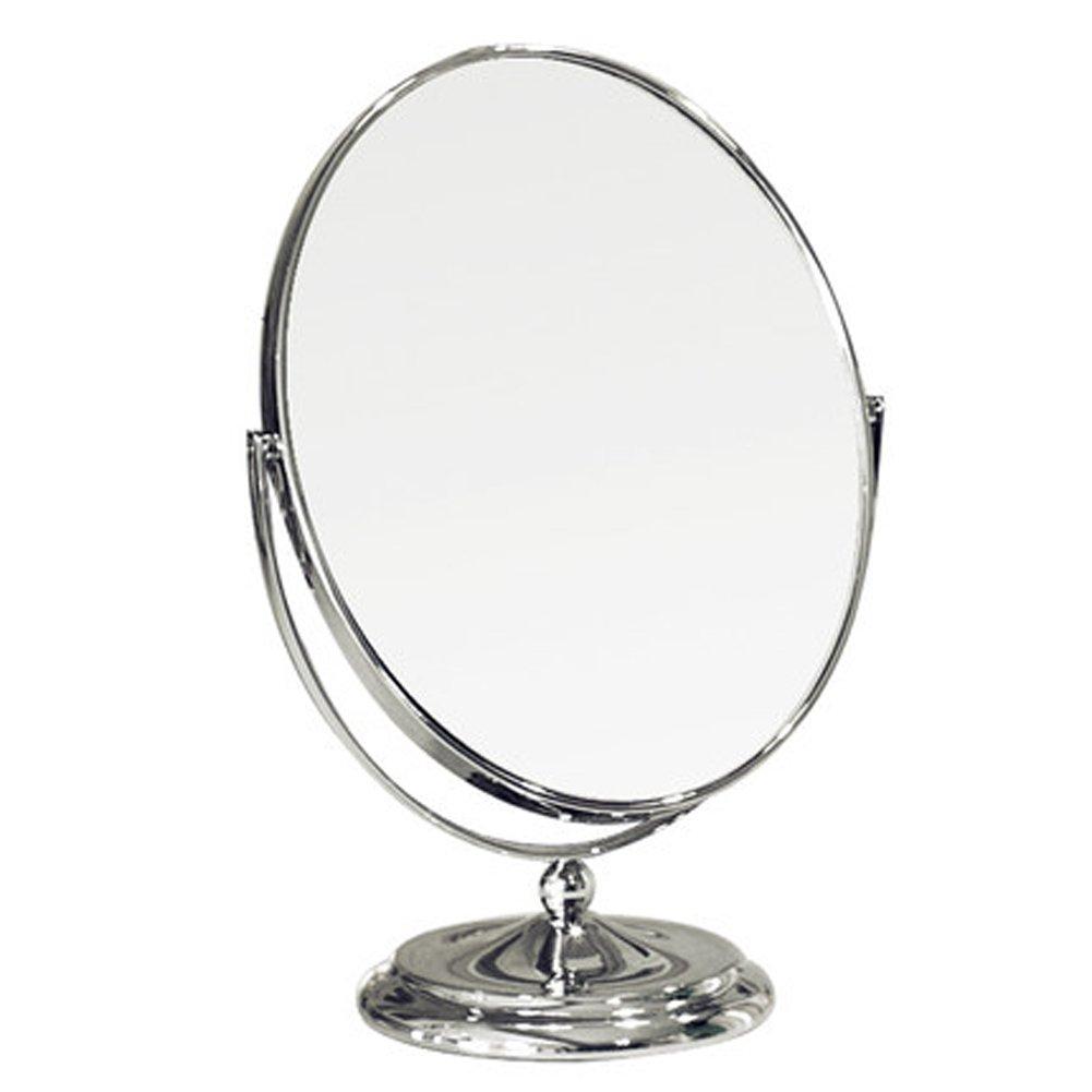 Hd Oval Mirror Desktop Double Mirror Large Portable Vanity Mirror Silver European Princess Makeup Mirror