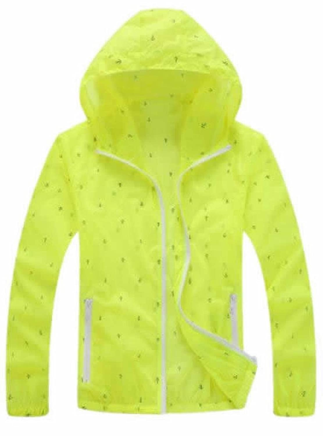 NQ Women Sun Protection Transparent Printed Hooded Coat
