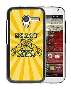 NCAA North Carolina A&T Aggies 4 Black Motorola Moto X Protective Phone Cover Case
