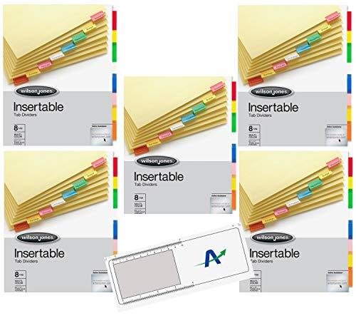 - Bundle Pack of Wilson Jones Single-Sided Reinforced Insertable Index, Multicolor 8-Tab, Letter, Buff (54311) Plus Bonus Item (5)