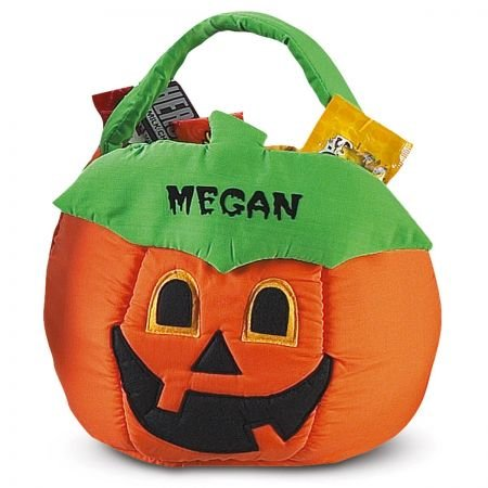Lillian Vernon Pumpkin Personalized Halloween Treat Bag -