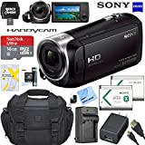 Sony HDRCX405 HDR-CX405 CX405 Video Recording Handycam Camcorder Bundle With Deluxe Bag, 16GB