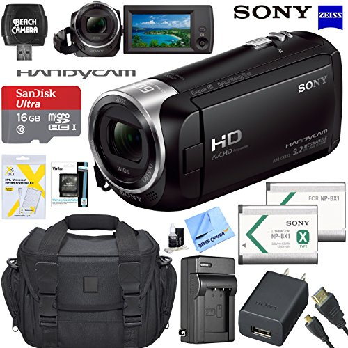 - Sony HDRCX405 HD Video Recording Handycam Camcorder Bundle with Micro SD Memory Card Spare Battery Charger High Speed HDMI Cable and More