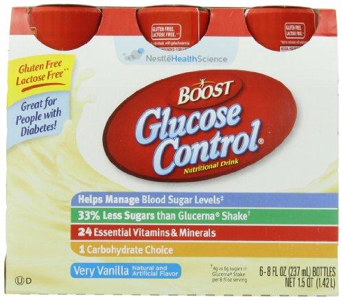 Повышение глюкометры, ваниль, 8-унция пластиковых бутылок (в упаковке 24)