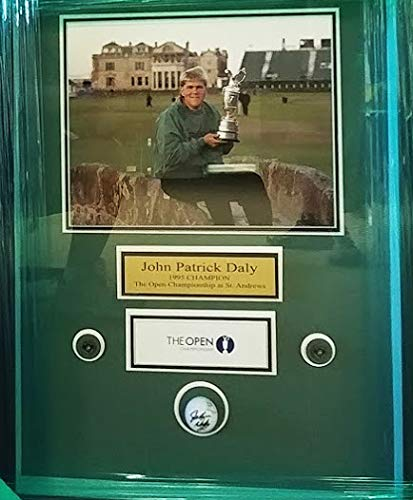 - Encore John Daly - 1995 St.Andrews Champion Autographed Golfball Shadowbox