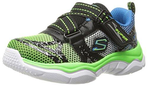 Skechers Kids Neutron Super Z Strap Athletic Sneaker (Toddler/Little Kid) Black/Blue/Lime