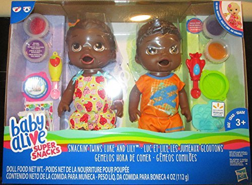Search : NEW Baby Alive Super Snacks Snackin' TWINS LUKE AND LILY AFRICAN AMERICAN DOLLS
